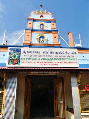 Malakka Reisebericht Sri Poyyatha Vinayaga Tempel