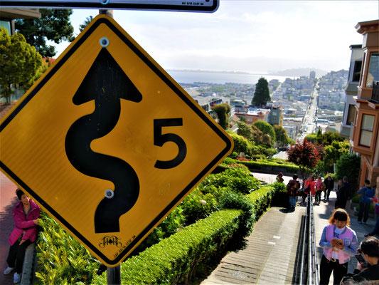 San Francisco Sehenswürdigkeiten lombard street