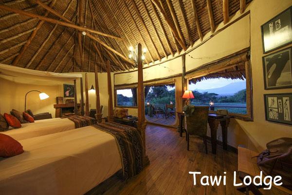 Kenia Safari Lodge Luxus - Tawi Lodge