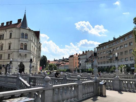 Ljubljana Reiseblog Drei Brücken