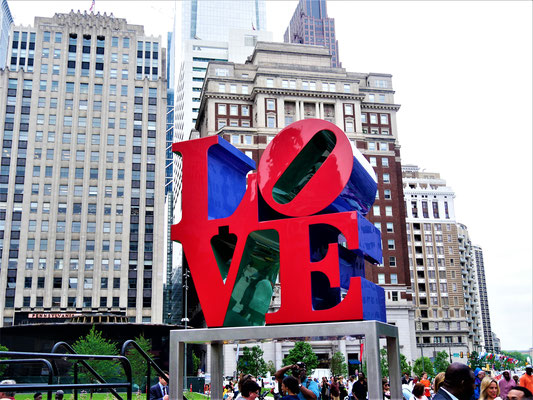Philadelphia Reisebericht Love Park