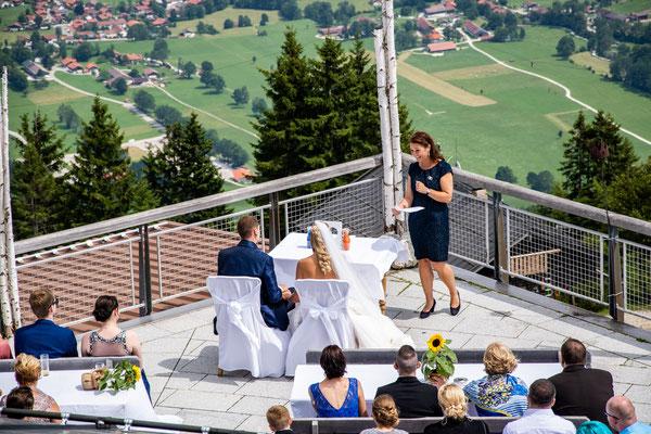 Hochzeitsrednerin Ursula Weber Panoramarestaurant Brauneck - Foto: privat
