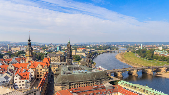 Ausblick von der Frauenkirche Dresden