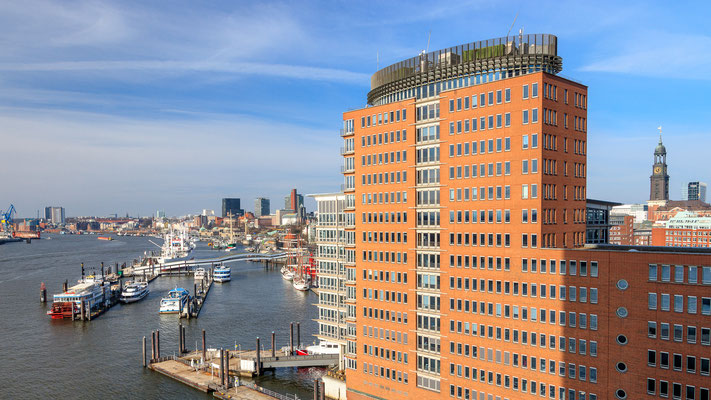 Ausblick von der Elbphilharmonie Hamburg