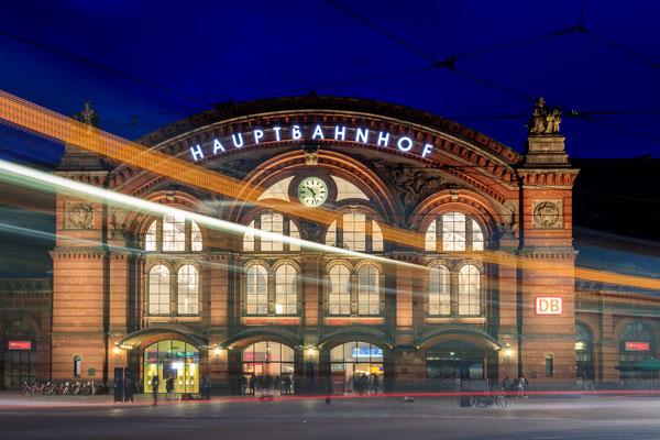 Hauptbahnhof Bremen - Blaue Stunde