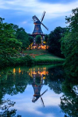 Herdentorswallmühle Bremen - Abendstimmung