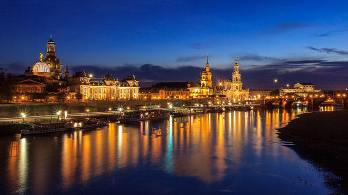 Blaue Stunde - Dresden Carolabrücke