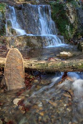 Wasserfall am Grünen See in Melle-Markendorf