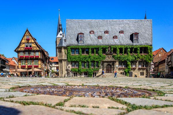 Marktplatz mit Rathaus Quedlinburg