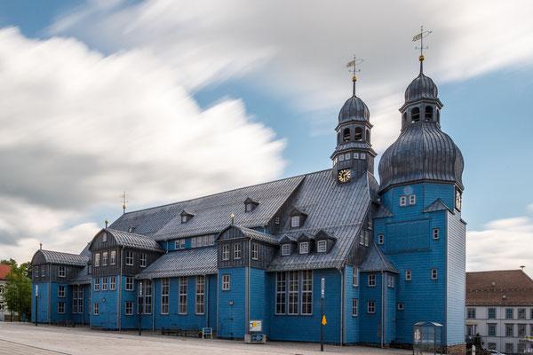 Die blaue Marktkirche in Clausthal