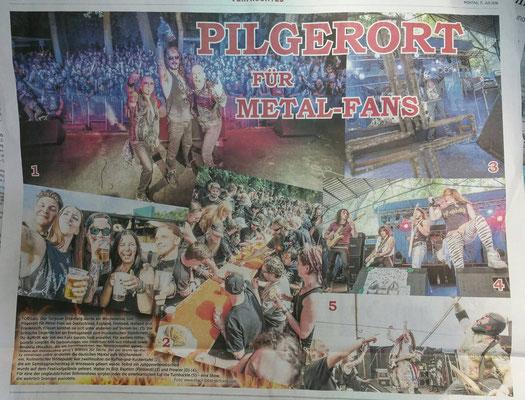 IN FLAMMEN OPen Air - 07. - 09.07.2016 in Torgau - Torgauer Zeitung vom 11.07.2016