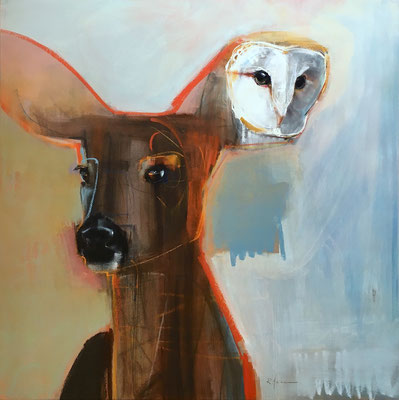 """...But Wisdom Listens    30""""x30""""    oil on panel.  SOLD"""