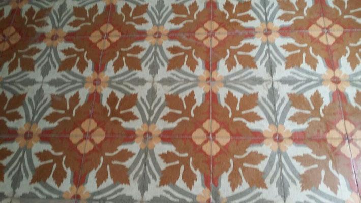 pulido y abrillantado mosaico hidráulico (después)