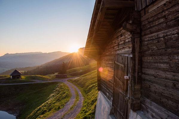 Sonnenuntergang auf Jänzimatt