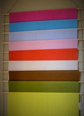 Seidenpapier in verschiedenen Farben