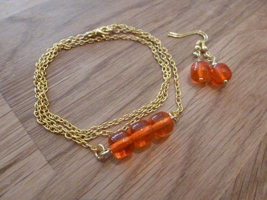 Kette/Armband und Ohrringe