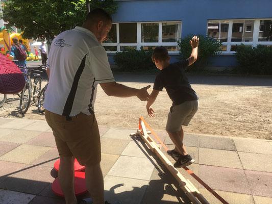 Balance-Akt beim Kreissportbund