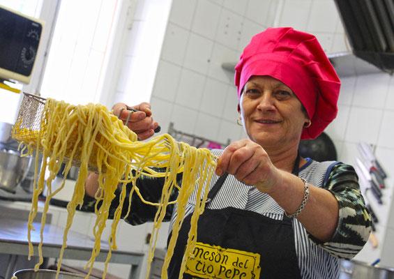 La buena pasta casera del Restaurante Tío Pepe (El Argentino de Valsaín)