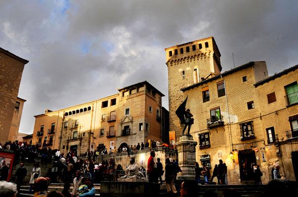 La plaza de Medina del Campo es lugar frecuentes eventos