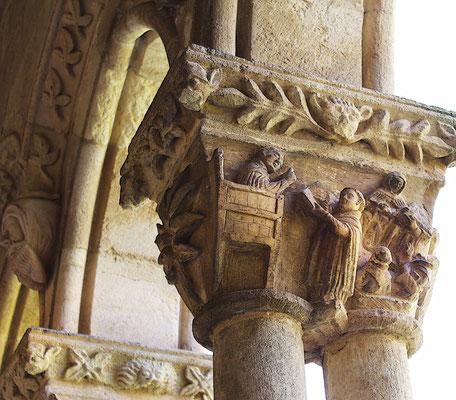 Capital del claustro de la Soterraña en Santa María la Real de Nieva (Segovia)