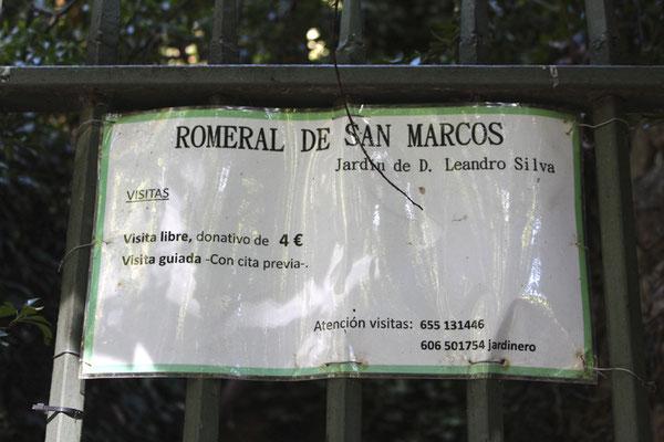 """Tarifa """"Romeral de San Marcos"""""""