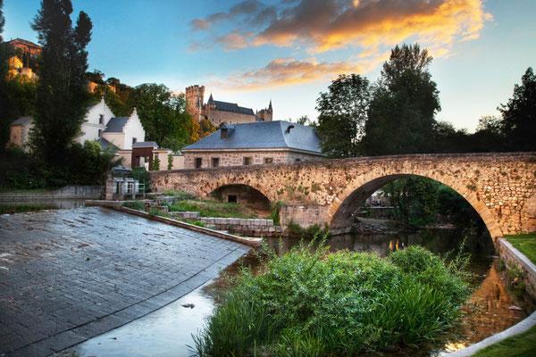 Casa de Moneda en Segovia desde La Alameda de El Parral