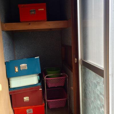カラフルな衣装箱。ほ、欲しいです。。。