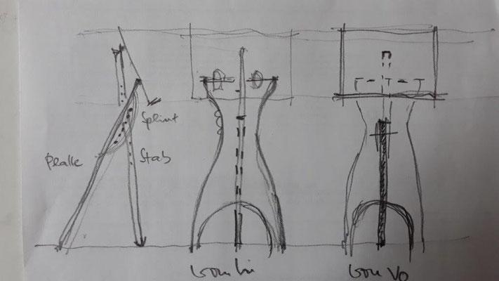 Notenpult, Holz, faltbar
