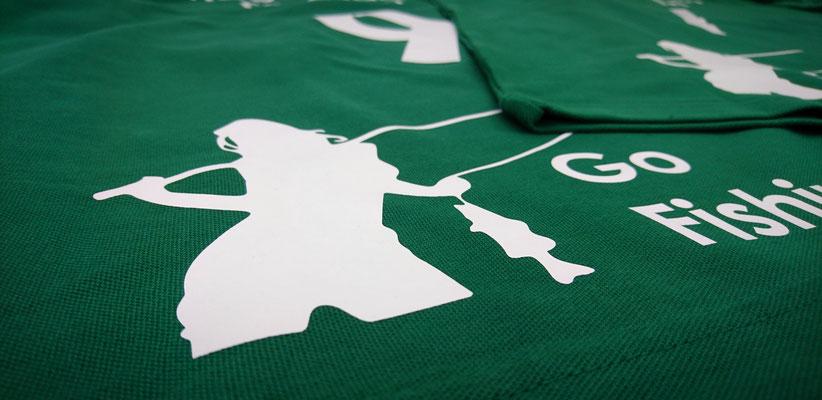 Polo-Shirts auch gerne für ganze Manschaften.