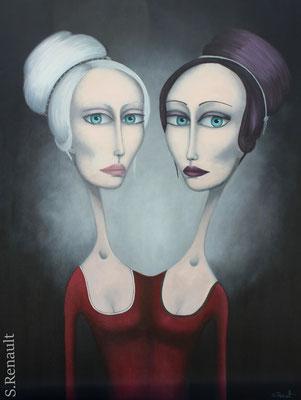 En Tête à Tête avec moi-même (116x89 cm) 2011