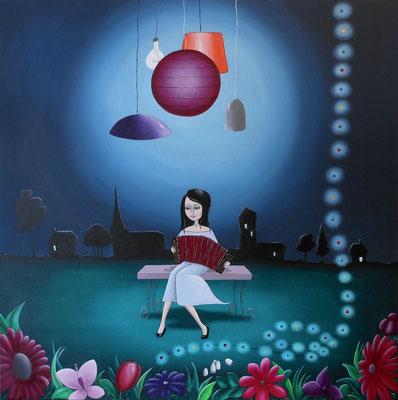 L'Accordéoniste - Le Petit Bal Perdu (60x60 cm) 2013