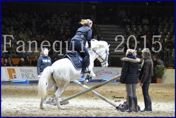 Cheval Passion 2015 - Démonstration de saut d'obstacle avec un CAMARGUE
