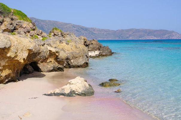 Elafonisi – mit dem rosafarbenen Sandstrand