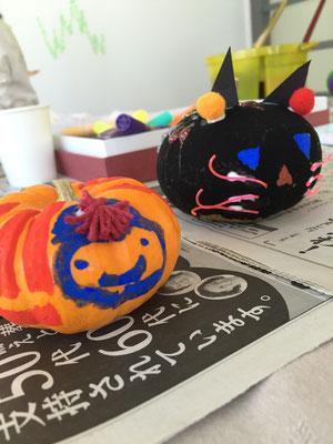 ハロウィンかぼちゃペイント