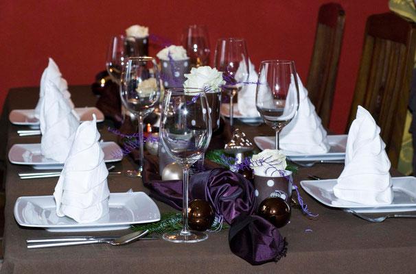 Weihnachtliche Tischdeko 2010