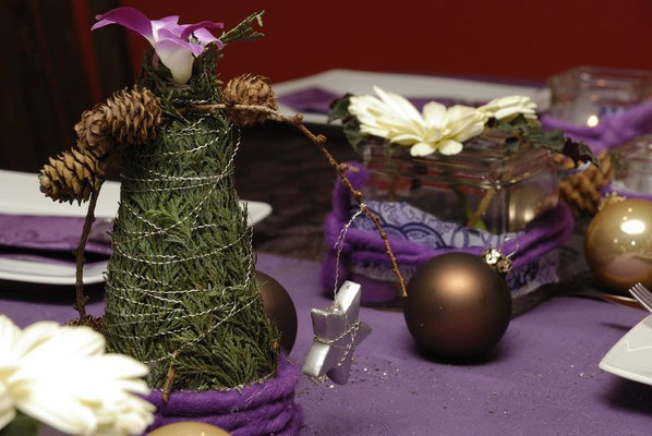 Weihnachtliche Tischdeko 2009
