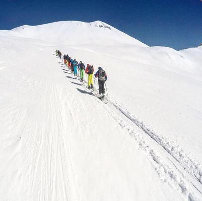 Gudauri: Aufstieg (400Hm) zum Mount Sazdele
