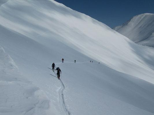 Gudauri: Aufstieg zum Mount Bidara