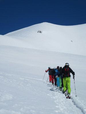Gudauri: Aufstieg zum Mount Sadzele