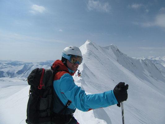 Gudauri: Gipfelgrat am Mount Bidara