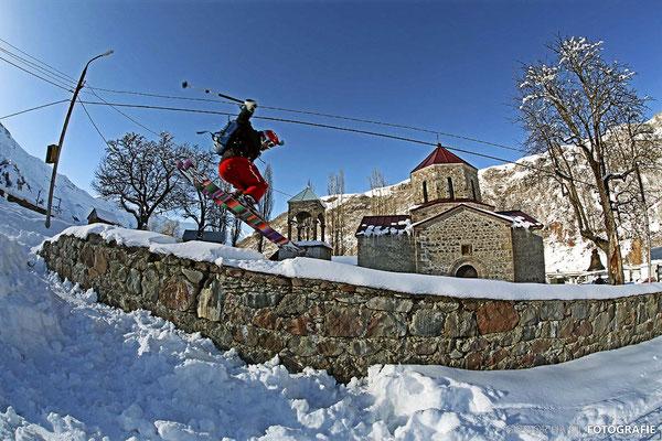 Gudauri: Endpunkt der Skitour zum Kloster Lomisi
