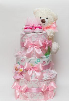 Тортик из памперсов для девочек