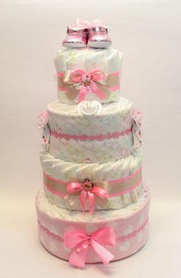 Тортик из памперсов девочкам
