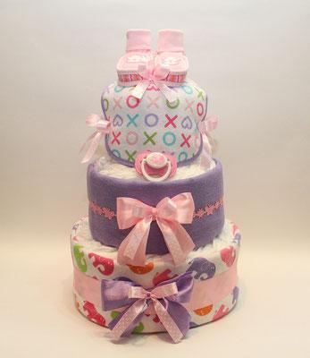 Тортик из памперсов для девочки