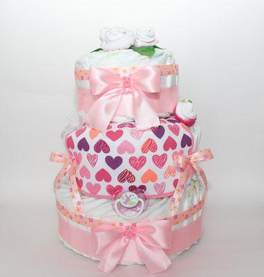 Тортик из памперсов для девочек от Camelia
