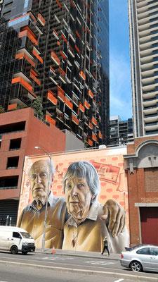 FRESQUE SUR LA LONSDALE STREET MELBOURNE AUSTRALIE