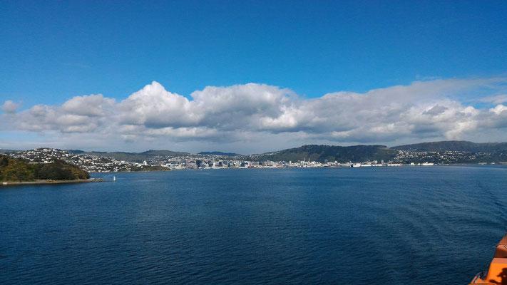 WELLINGTON DEPUIS FERRY POUR ILE DU SUD WELLINGTON NZ