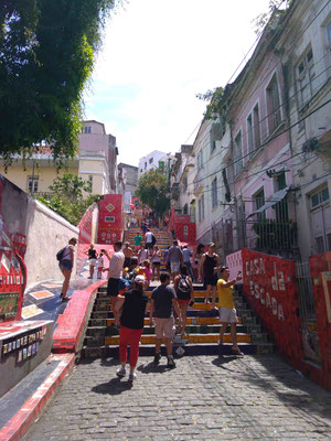 L'ESCALIER SELARON A LAPA RIO DE JANEIRO BRESIL
