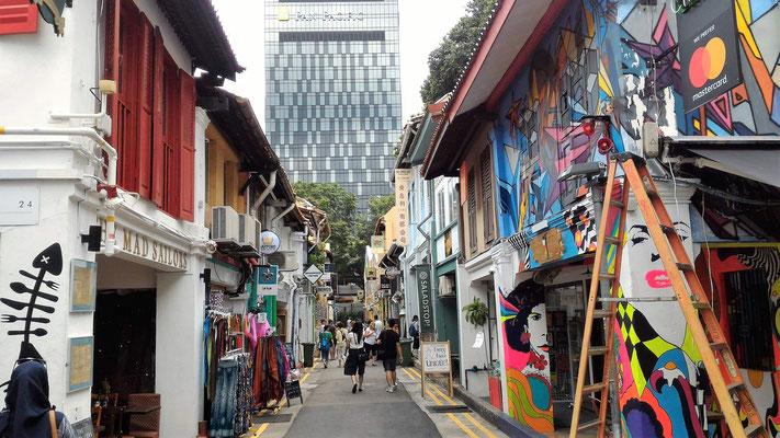 HADJI LANE QUARTIER MALAIS A SINGAPOUR