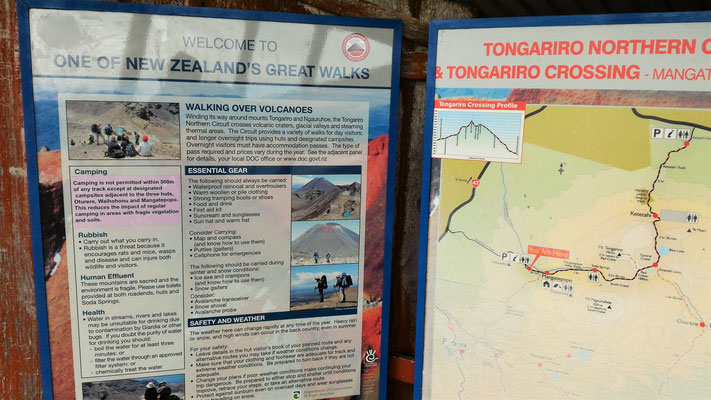 RANDO TONGARIRO ILE DU NORD NZ